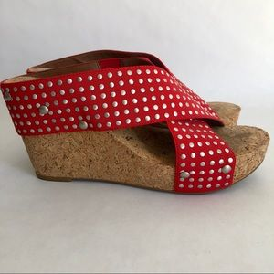 Lucky Brand Studded Red wedges